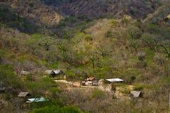 Agua Blanca Comune w Machalilla parku narodowym Fotografia Stock