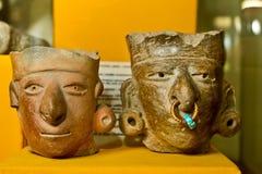 Agua Blanca Museum i den Machalilla nationalparken Arkivfoton