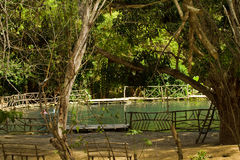 Agua Blanca muzeum w Machalilla parku narodowym Fotografia Stock