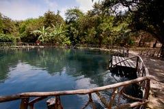 Agua Blanca muzeum w Machalilla parku narodowym Zdjęcia Royalty Free