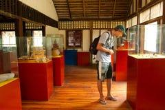 Agua Blanca muzeum w Machalilla parku narodowym Obrazy Royalty Free