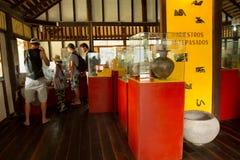 Agua Blanca muzeum w Machalilla parku narodowym Obraz Stock