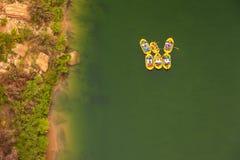 Agua blanca que transporta en balsa en el río Colorado Fotos de archivo libres de regalías