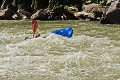 Agua blanca Zamora Kayaking Ecuador Imagen de archivo