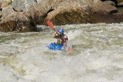 Agua blanca Zamora Kayaking Ecuador Fotos de archivo libres de regalías