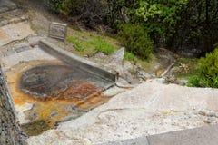 Agua caliente geotérmica en Furnas en la isla del sao Miguel Foto de archivo