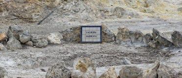 Agua caliente geotérmica en Furnas en la isla del sao Miguel Fotos de archivo