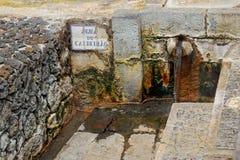 Agua caliente geotérmica en Furnas en la isla del sao Miguel Foto de archivo libre de regalías