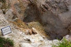 Agua caliente geotérmica en Furnas en la isla del sao Miguel Imagen de archivo libre de regalías