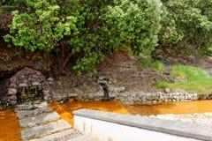 Agua caliente geotérmica en Furnas en la isla del sao Miguel Imagenes de archivo