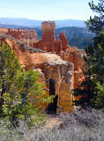Agua Canyon. Red rock formations, green pine trees and brush at 8800 feet in elevation, Agua Canyon at Bryce Canyon National Park, Utah royalty free stock photography