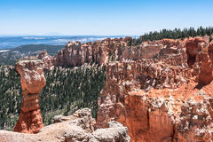 Agua Canyon view, Bryce Canyon National Park, Utah. The Hunter in Agua Canyon in Bryce Canyon National Park, Utah Stock Images