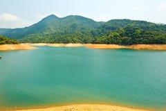 Agua ciánica del lago Imagen de archivo libre de regalías