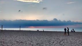 Agua, cielo y nubes Imágenes de archivo libres de regalías