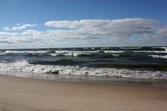 Agua, cielo y nubes Foto de archivo libre de regalías
