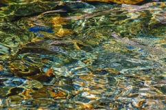 Agua clara de Cristal Foto de archivo