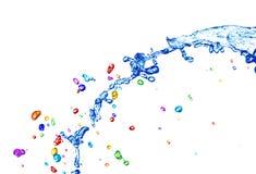 Agua colorida foto de archivo libre de regalías
