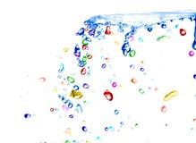 Agua colorida fotografía de archivo