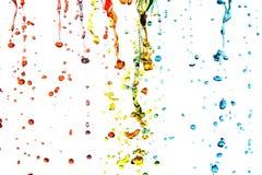 Agua colorida foto de archivo