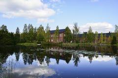 Agua como espejo Fotos de la naturaleza wunderful de Swedens Foto de archivo