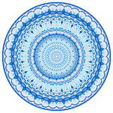 Agua compleja Mandala Round Ornament Foto de archivo libre de regalías