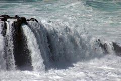 Agua con la fuerza Imágenes de archivo libres de regalías