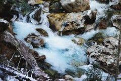 Agua congelada Imágenes de archivo libres de regalías
