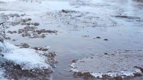 Agua congelada de los cristales de hielo almacen de video