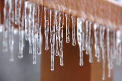 Agua congelada del goteo Imágenes de archivo libres de regalías