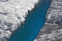 Agua congelada glaciar 3 de Mendenhall Fotos de archivo libres de regalías