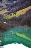Agua contaminada del lago Foto de archivo libre de regalías