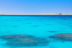 Agua coralina azul de un Mar Rojo foto de archivo libre de regalías