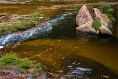 Agua corriente de la corriente clara Fotos de archivo