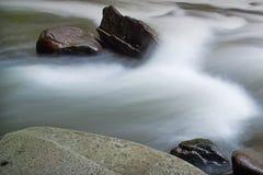 Agua corriente en el Tellico Fotografía de archivo libre de regalías