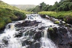 Agua corriente en una corriente de la montaña Imagenes de archivo
