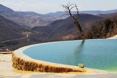Agua d'EL de Hierve, Oaxaca, Mexique images stock