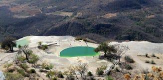 Agua d'EL de Hierve, Oaxaca, Mexique Photos stock