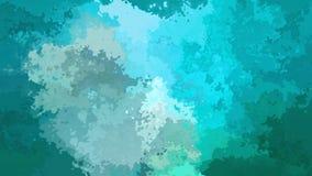 agua de azules turquesa video manchada animada del lazo inconsútil del fondo almacen de metraje de vídeo