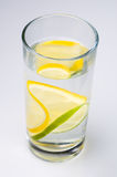 Agua de cal del limón fotos de archivo libres de regalías