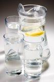 Agua de cal del limón imagen de archivo libre de regalías