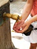 Agua de ciudad Foto de archivo libre de regalías