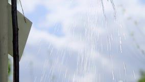 Agua de colada de la poder de riego almacen de video