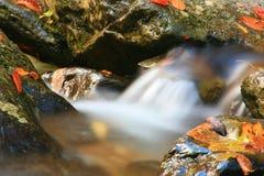 Agua de conexión en cascada Imágenes de archivo libres de regalías