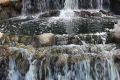 Agua de conexión en cascada Fotografía de archivo