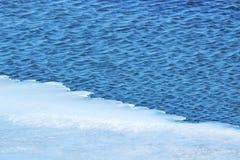Agua de hielo azul fotos de archivo libres de regalías