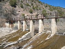 Agua de irrigación Foto de archivo