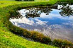 Agua de la calma del humedal de la reserva de naturaleza fotografía de archivo libre de regalías