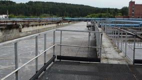 Agua de la central depuradora limpia almacen de video