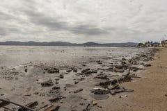 Agua de la contaminación fotografía de archivo