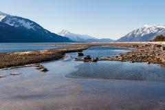 Agua de la entrada de Chilkat Imágenes de archivo libres de regalías